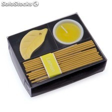 Set velas incienso amarillo nikel