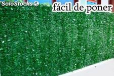 Seto Artificial de 1x3 metros, Color Natural , protector uv, Fácil de Poner