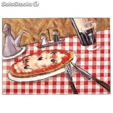 "Sets de table ""offset"" - modele ""pizza"" 70 g/M2 31x43 cm quadrichromie litos"
