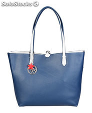 shopping bag donna piero guidi blu (41812)