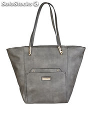 shopping bag mujer pierre cardin gris (40081)