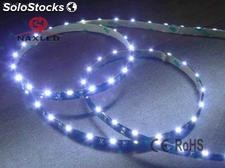 side emitting 335 led flexible strips, white pcb, 8mm width, 60led/m