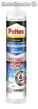 Silicona pattex no mas moho 280 ml blanca