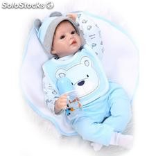 Silicone souple simulation baby doll 55cm