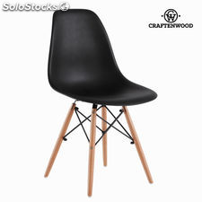Silla abs negra y haya by Craftenwood