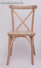 Silla aspa estilo Thonet/Cross Back color madera