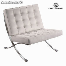Silla barcelona blanca by Craftenwood