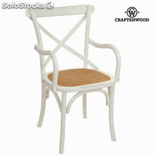 Silla con brazos madera blanca by Craftenwood