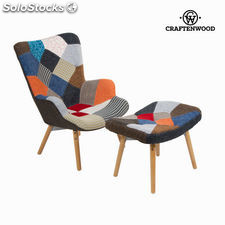 Silla con reposapiés by Craftenwood