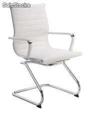 Silla confidente Aluminium group eames blanco