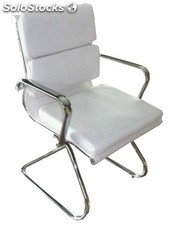 Silla confidente Aluminium group eames Soft blanco