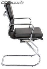 Silla confidente Aluminium group eames Soft negro