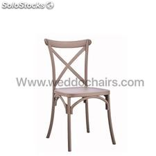 Silla de aspa estilo Cross Back/thonet color madera