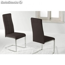 Silla de comedor Comet Polipiel - Color - Marrón