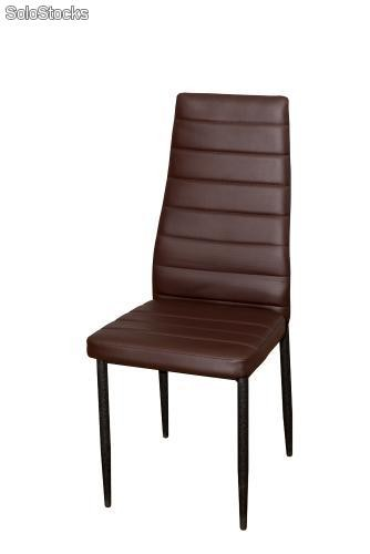 Silla de comedor moderna color marron for Sillas comedor marron