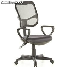 Silla de oficina CITY 50, respaldo regulable, en gris