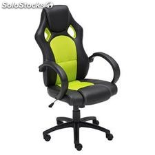 Silla oficina deportiva Gaming inclinación 180º MIKE rojo unica
