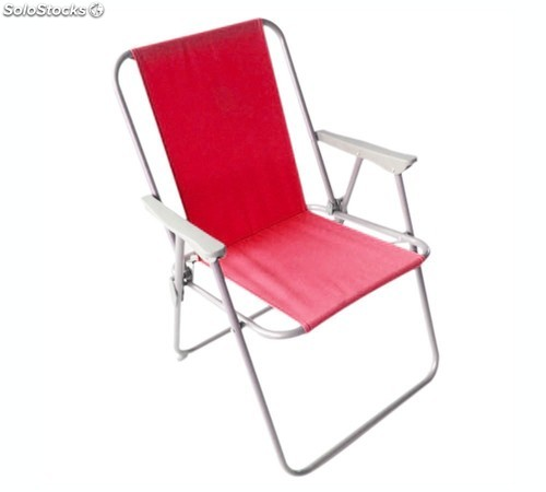 Silla de playa plegable roja - Silla de playa plegable ...