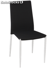 Silla DECOR_ASHLEY apliable, cromada en similpiel