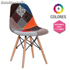 Silla Eames DSW Patchwork - Tower Wood