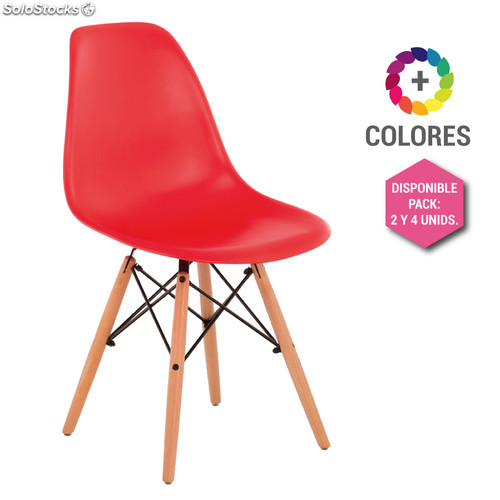 Silla Eames DSW - Tower Wood Roja