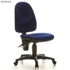 Silla ergonómica POINT uso 8h, sin brazos, en color azul