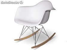 Silla Estilo rar - Mecedora - Adulto - Blanco