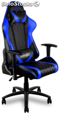 Silla gamer pro THUNDERX3 TGC15BB color negra azul
