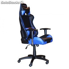 Silla gaming kl-tech KSGT3 slim negro azul