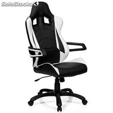 Silla gaming RACER PRO I uso 8h, color blanco/negro