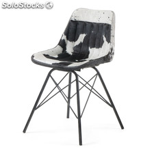 Silla Hunter en Piel Blaco & Negro