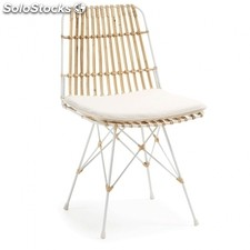 Silla Isnaia - Color - Rattan - Blanco