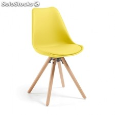 Silla Lars Polipropileno - Color - Amarillo