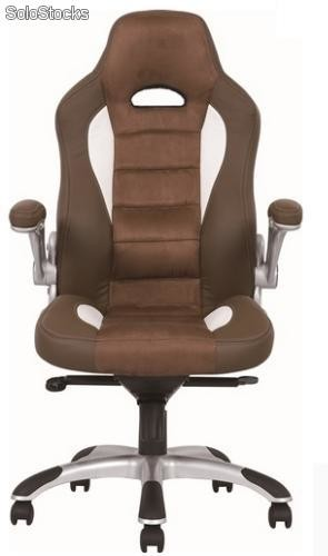 Silla oficina deportiva Backet Racing marron