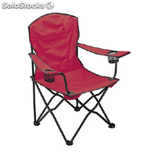 Silla plegable con reposabrazos color: ROJO