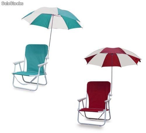 Silla plegable para playa con sombrilla - Sombrillas de playa plegables ...