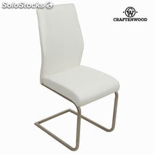 Silla polipiel blanca by Craftenwood