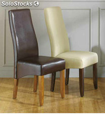 Silla polipiel en color chocolate 109 x 46 x 64 cm