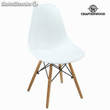 Silla pp blanca y haya by Craftenwood