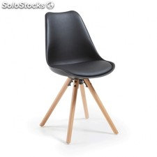 Silla Ralf Wood - Color - Negro