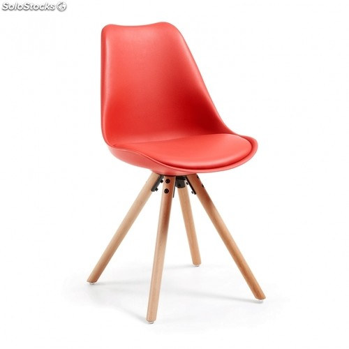 Silla Ralf Wood - Color - Rojo