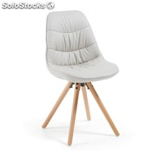 Silla Ralf Wood Tapizada - Color - Beige