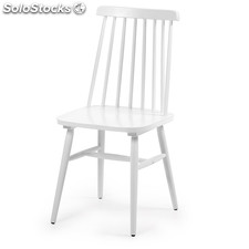 Silla Retro estilo Windsor · Blanca
