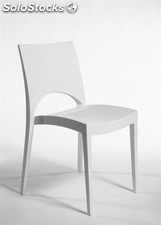 Silla SABA-BL, polipropileno color blanco