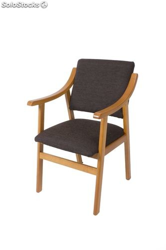 Silla Sillon Con Reposabrazos 50 Chocolate