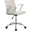 Silla sillon regulable giratorio. Polipiel blanco