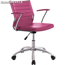 Silla sillon regulable giratorio. Polipiel rosa fucsia
