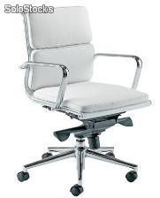 Silla Soft Pad Aluminium group eames ea 217 blanco