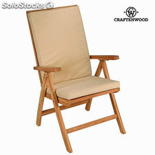 Silla teca natural reclinable by Craftenwood