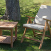 Silla teca natural reclinable by Craftenwood - Foto 2